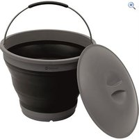 Outwell Collaps Bucket w/Lid - Colour: Black