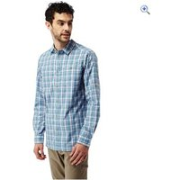 Craghoppers Mens Brentwood LS Shirt - Size: S - Colour: SMOKE BLUE