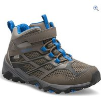 Merrell Kids Moab Mid Waterproof Boot - Size: 5 - Colour: Grey