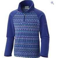 Columbia Girls Glacial II Half Zip Print Fleece - Size: XXS - Colour: NORDIC STRIPE