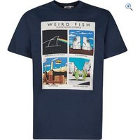 Weird Fish Mens Shrimp Floyd Artist T-Shirt - Size: XXXXXL - Colour: MARITIME BLUE