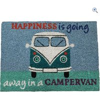 Quest Heavy Duty Coir Happiness is going away in a campervan Mat