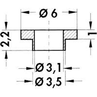 Fischer Elektronik Isolierbuchsen IB 6 für TO 220
