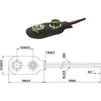 Batterieclip für 9-V-Block-Batterien