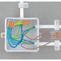 Wago 222 Verbindungsklemme wieder lösbar, 2 Klemmstellen, 2 x 0,08 - 2,5 mm²