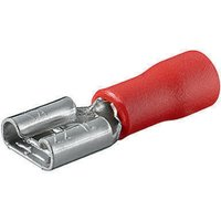 Kfz-Flachsteckhülsen, rot, max. Leiterquerschnitt 1 mm2