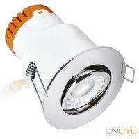 Enlite Lighting Essentials  8-W-LED-Downlight, schwenkbar, warmweiß (3000 K), IP20, chrom poliert