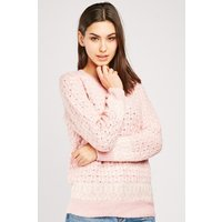 Ribbed Trim Loose Knit Chunky Jumper