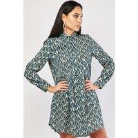 Metallic Art Deco Shirt Dress