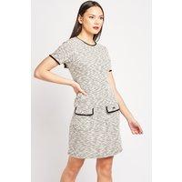 Flap Pocket Front Shift Dress