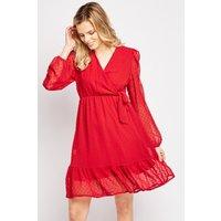 Bobble Textured Sheer Swing Dress