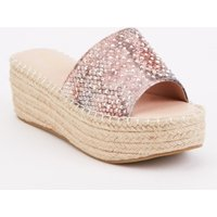 Chunky Encrusted Wedge Sandals