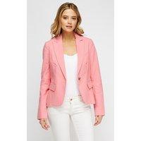 Lapel Front Pink Blazer