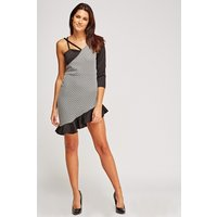 Asymmetric Flare Mini Dress