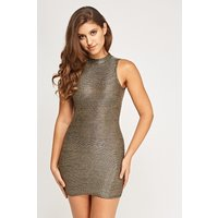 Sleeveless Metallic Fitted Dress