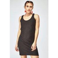 'Black Textured Bodycon Dress