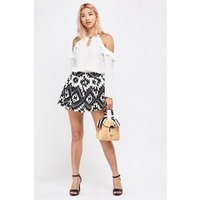 Aztec Print Mini Skirt
