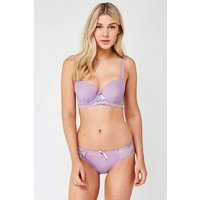 Lace Contrast Underwired Bra And Brief Set