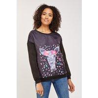 3d Deer Print Sweatshirt