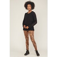 Animal Print Faux Leather Leggings