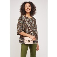 All Over Paisley Print Blouse