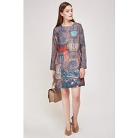 Abstract Art Print Shift Dress