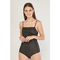 Glitter Encrusted Sleeveless Bodysuit