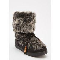 Faux Fur Lace Up Boots