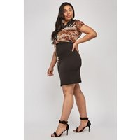 2 In 1 Printed Bodycon Dress