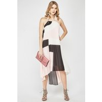 Image of Pleated Colour Block Maxi Dress