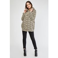 All Over Patterned Hooded Jacket