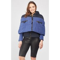 2 In 1 Cape Overlay Quilted Jacket
