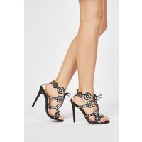 Encrusted Tie Up Heeled Shoes