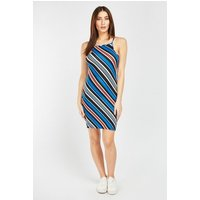 Asymmetric Stripe Mini Dress