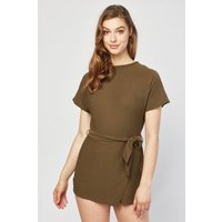 Batwing Sleeve Wrap Playsuit