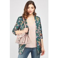 Floral Double Breasted Duster Coat
