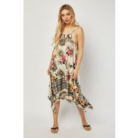 Asymmetric Hem Printed Sun Dress