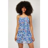 Aztec Cut Out Side Mini Dress