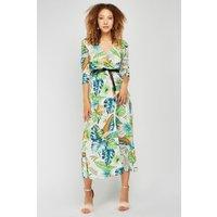 3/4 Sleeve Length Floral Swing Dress