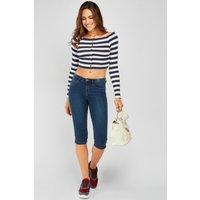 3/4 Length Denim Jeans