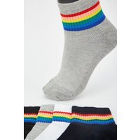 12 Pairs Of Multi-striped Socks