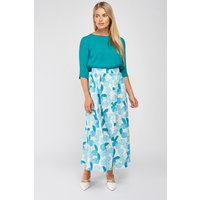 Apple Print Maxi Skirt
