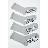 12 Pairs Of Animal Print Socks
