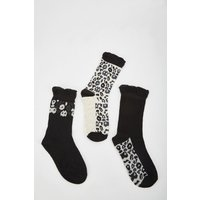 12 Pairs Of Leopard Print Socks