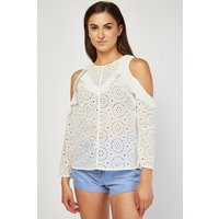 All Over Broderie Top