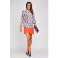 All Over Ethnic Print Blouse