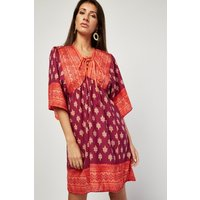 Aztec Print Contrast Tunic Dress