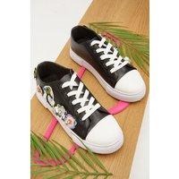 3d Sequin Applique Sneakers
