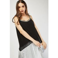 Bead Embellished Cami Top