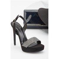 Encrusted Stiletto Heeled Sandals
